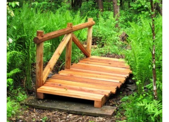 Creekvine Designs 8' Cedar Trail Bridge