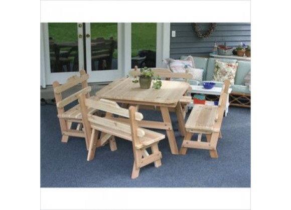 Creekvine Designs Cedar Four Square Dining Set
