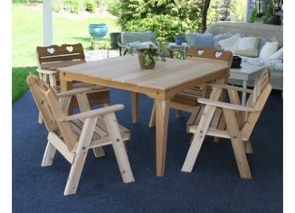 Creekvine Designs Cedar Country Hearts Dining Set