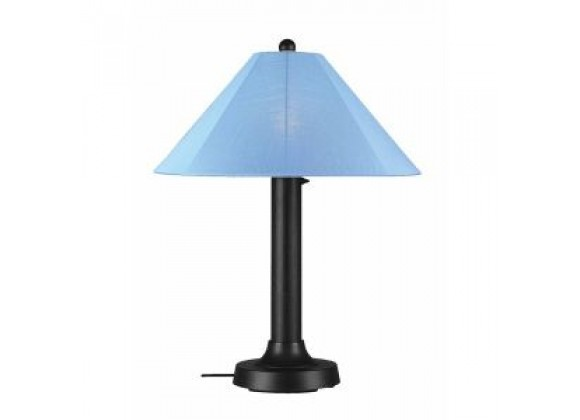 """Patio Concepts Catalina 34"""" Table Lamp with 3"""" with Sky Blue Sunbrella Shade Fabric"""