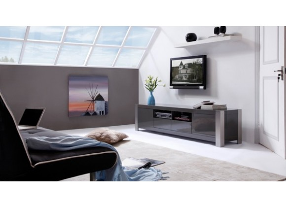 B-Modern Composer TV Stand -  Gray Perspective