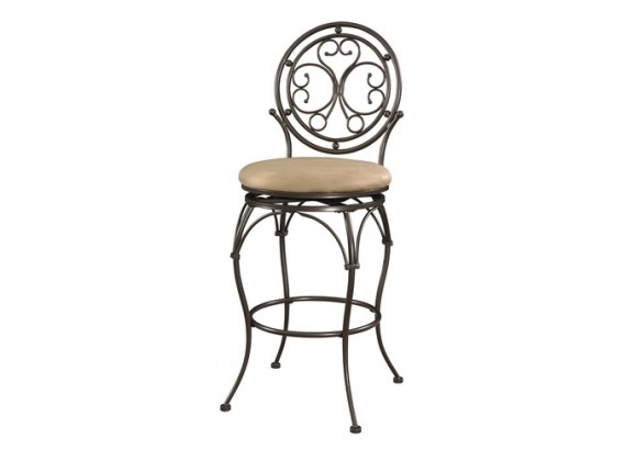 Powell Big and Tall Scroll Circle Back Counter Stool