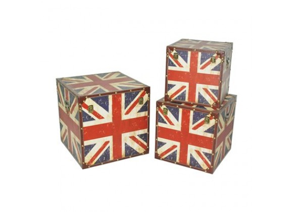 Screen Gems Union Jack Trunks - Set of 3