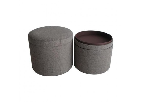 Screen Gems Mandalay Tweed Storage Ottoman