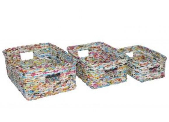 Screen Gems Recycled Wastebin - Set of 3