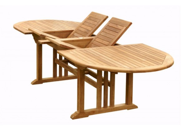 """Anderson Teak 106"""" Sahara Oval double Extension Table"""