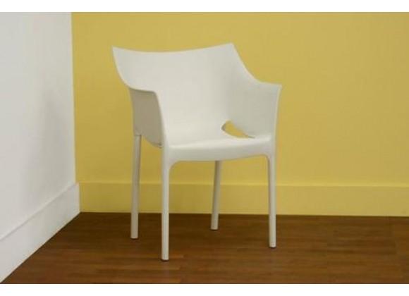 Baxton Studio White Molded Plastic Arm Chair
