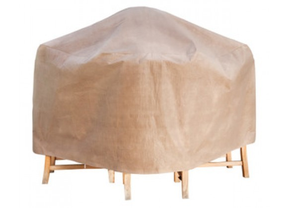 "Duck Covers Elite Patio Table and Chair Set Cover  -  Up to 87""diameter"