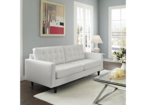 Modway Vista Empress Sofa in Black/White