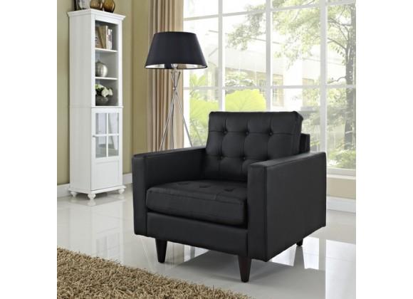 Modway Vista Empress Armchair in Black/White