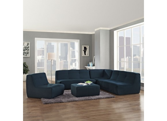 Modway Align 5 Piece Upholstered Sectional Sofa Set