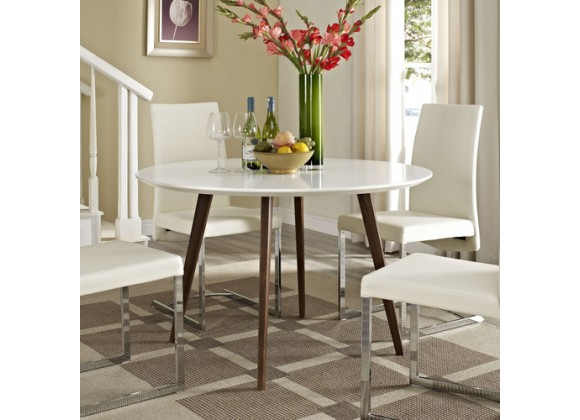 Modway Canvas Dining Table in White