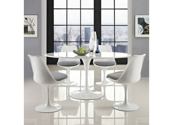 """Modway Lippa 60"""" Oval-Shaped Dining Table"""