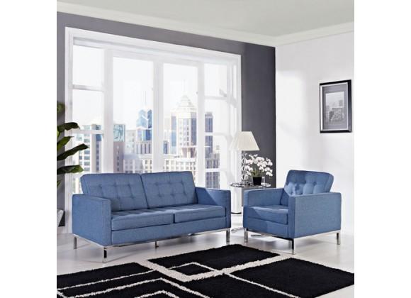 Modway Loft Armchair and Loveseat 2 Piece Set