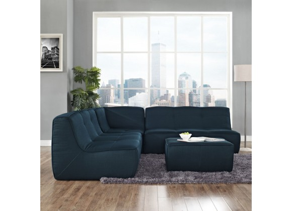 Modway Align 4 Piece Upholstered Sectional Sofa Set