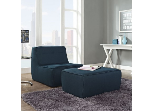 Modway Align 2 Piece Upholstered Armchair and Ottoman Set
