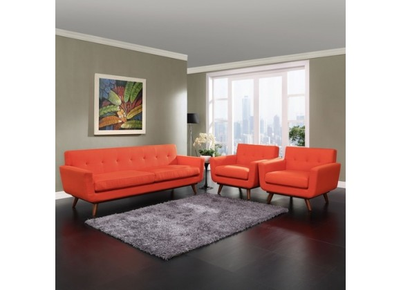 Modway Engage Armchairs and Sofa Set of 3