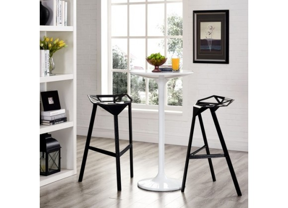 Modway Launch Stacking Bar Stool Set of 2