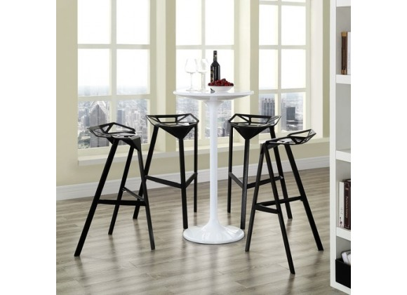 Modway Launch Stacking Bar Stool Set of 4