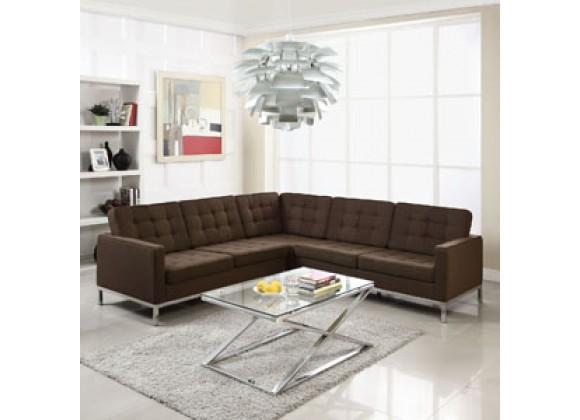 Modway Loft L-Shaped Sectional Sofa
