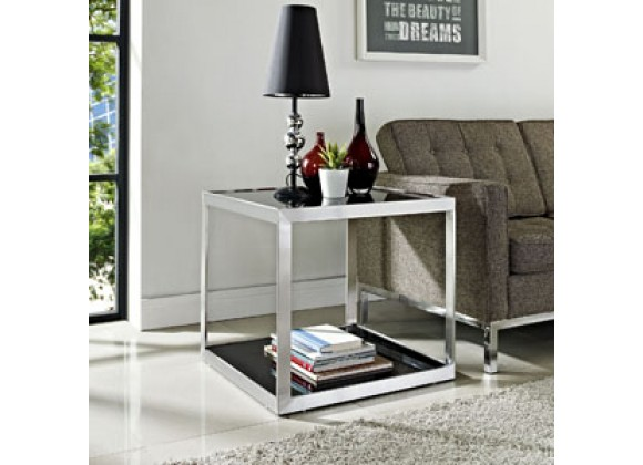 Modway Open Box Side Table In Black Home Furniture And Patio