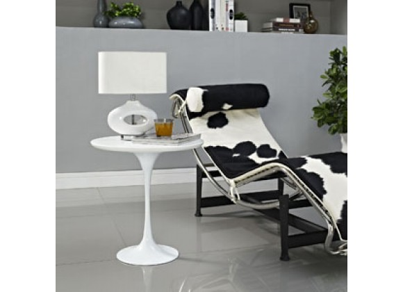 Modway Lippa Side Table in White