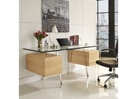 Modway Hypercube Desk in Natural