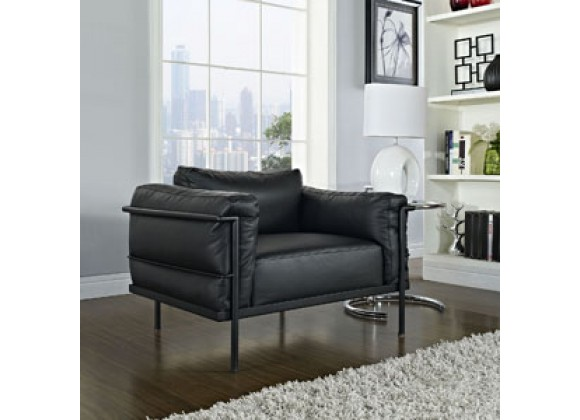 Modway Charles Grande Leather Armchair