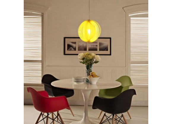 Modway Brush Acrylic Pendant Light in Yellow