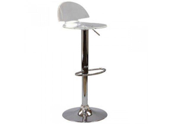 Modway Translucent Bar Stool in Clear
