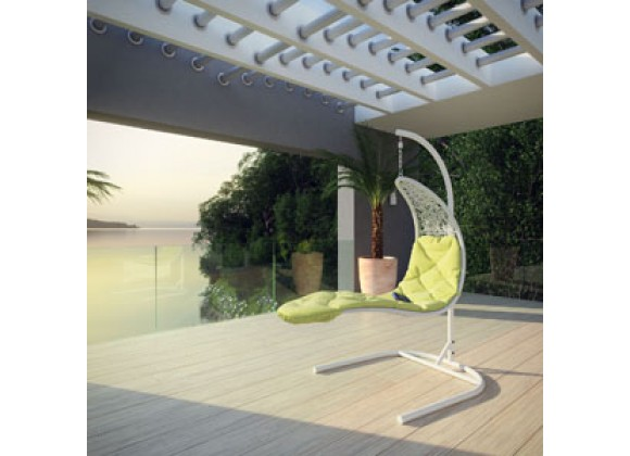 Modway Enclave Swing Lounge Chair in White - On SALE!