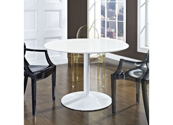 Modway Revolve Dining Table in White