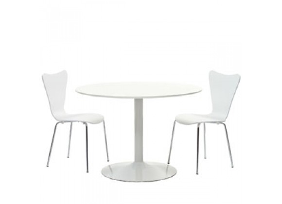 Modway Revolve 3 Piece Dining Set in White