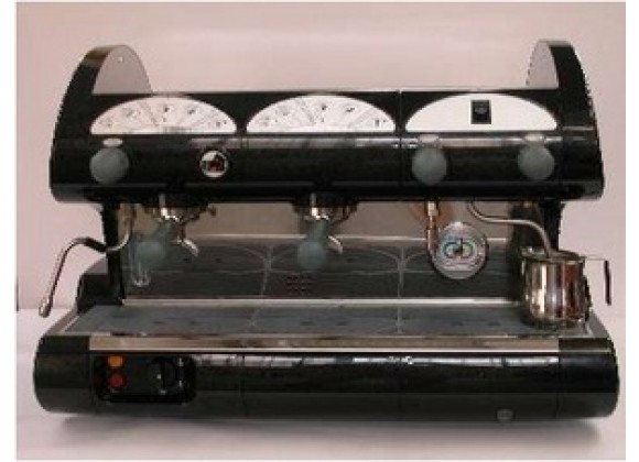 La Pavoni Bar-star Espresso Machine 2V-R  2 Group Volumetric - Black/Red