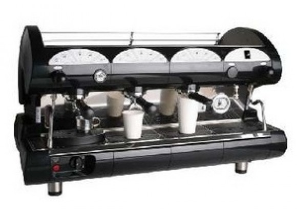 La Pavoni BAR-star Espresso Machine 3V-B 3 Group Volumetric - Black/Red
