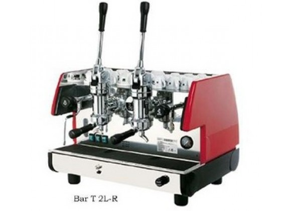 La Pavoni BAR Espresso Machine T 2L-B 2 Group Lever - Black/Red