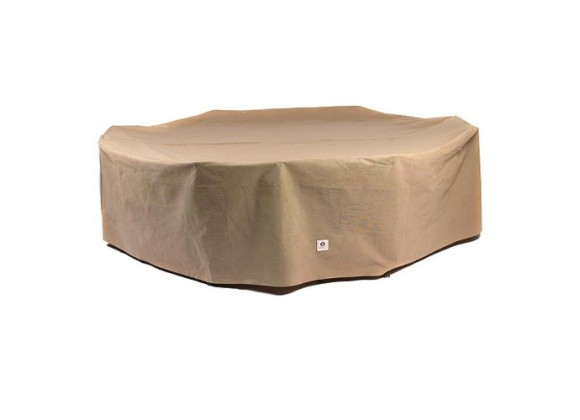 """Duck Covers Essential 96""""L Rectangle/Oval Patio Table W/ Chairs Cover"""