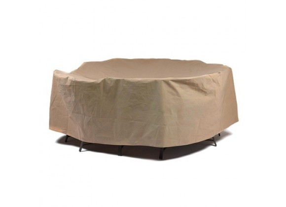 """Duck Covers Essential 108""""Dia Round Patio Table W/ Chairs Cover"""