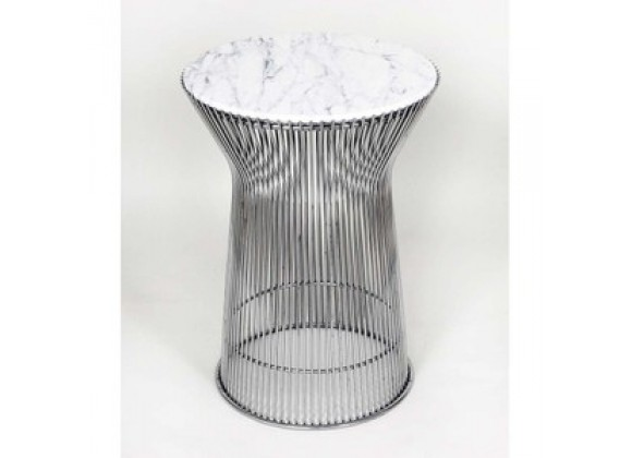 Stilnovo Mid Century Side Table with White Carrera style Marble Top