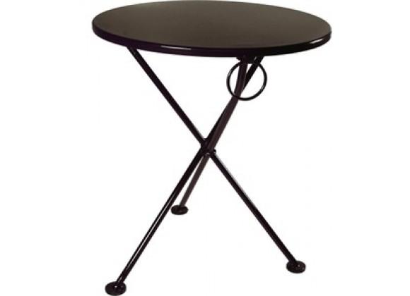 French Café Bistro 3-leg Folding Bistro Table - Black