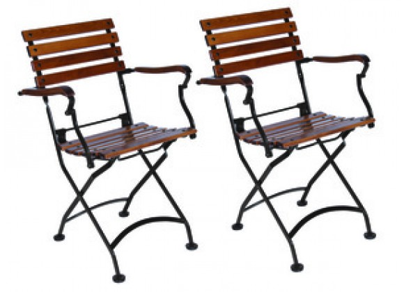 French Café Bistro Folding Armchair - set of 2