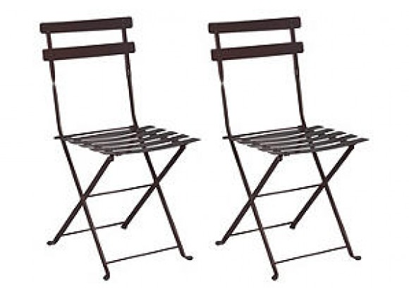 French Café Bistro Folding Side Chair - set of 2