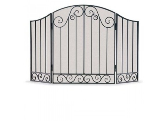 Fireside America Napa Forge 3 Panel Vienna Arch Screen - Brushed Pewter