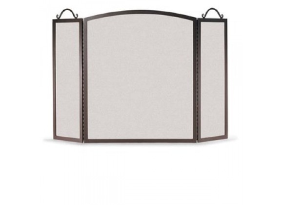 Fireside America Napa Forge Traditional Arch 3 Panel Screen - Black