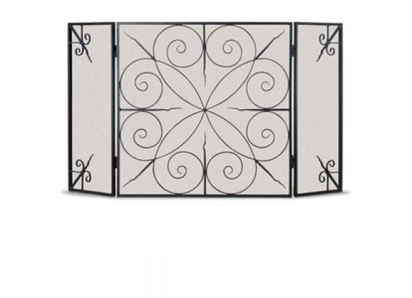 Fireside America Napa Forge Elements 3 Panel Screen - Brushed Bronze