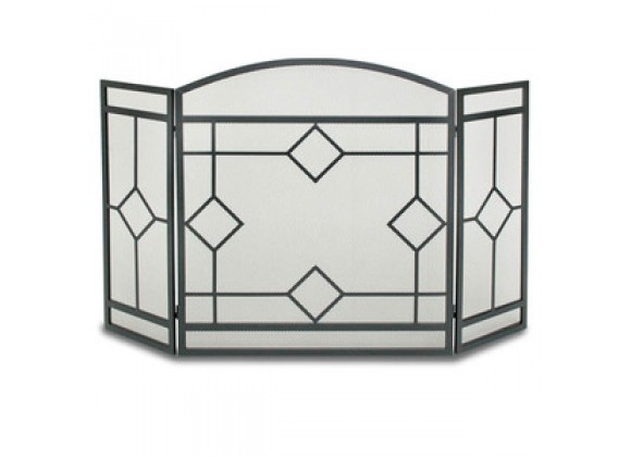 Fireside America Napa Forge Art Nouveau 3 Panel Screen - Black