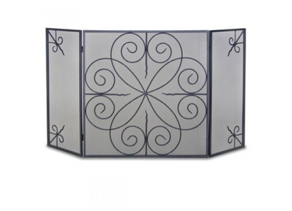 Fireside America Napa Forge 3 Panel Elements Screen - Black