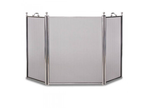 Fireside America Napa Forge 3 Panel Tiburon Screen - Satin Nickel