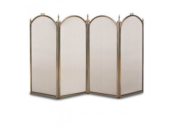 Fireside America Napa Forge Belvedere 4 Panel Screen - Antique Brass