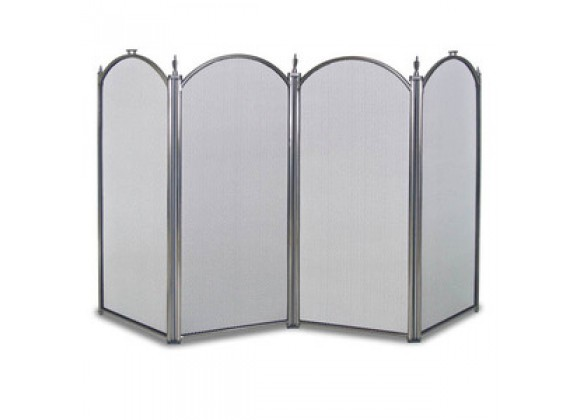 Fireside America Napa Forge Belvedere 4 Panel Screen - Pewter